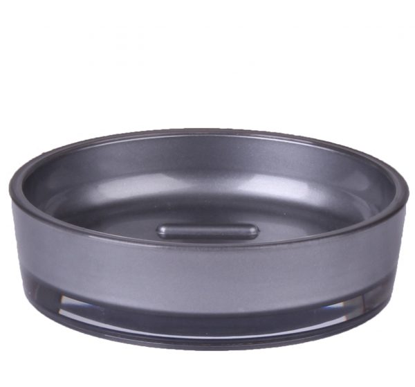 Oyster Grey Acrylic Toilet Soap Dish