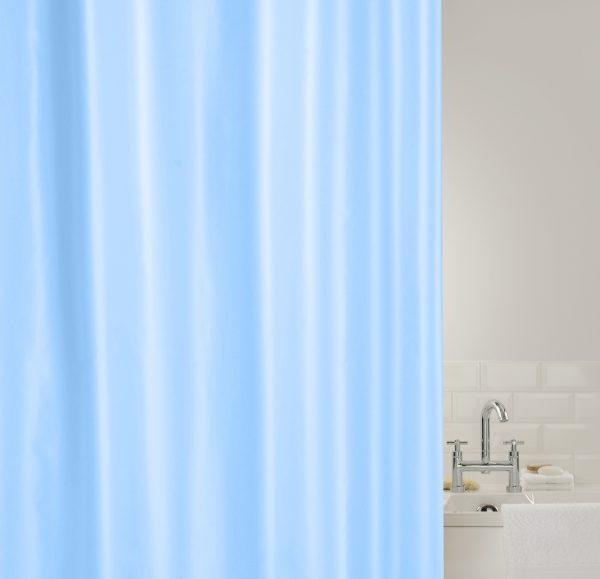 SHOWERPLUS PLAIN SHOWER CURTAIN BLUE