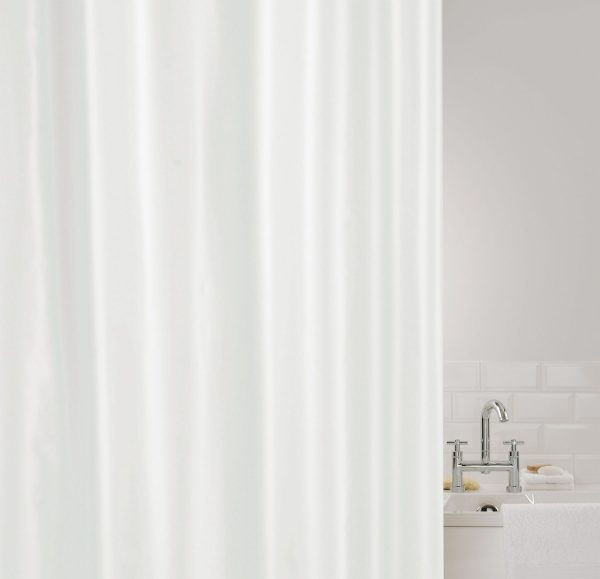 SHOWERPLUS PLAIN SHOWER CURTAIN WHITE