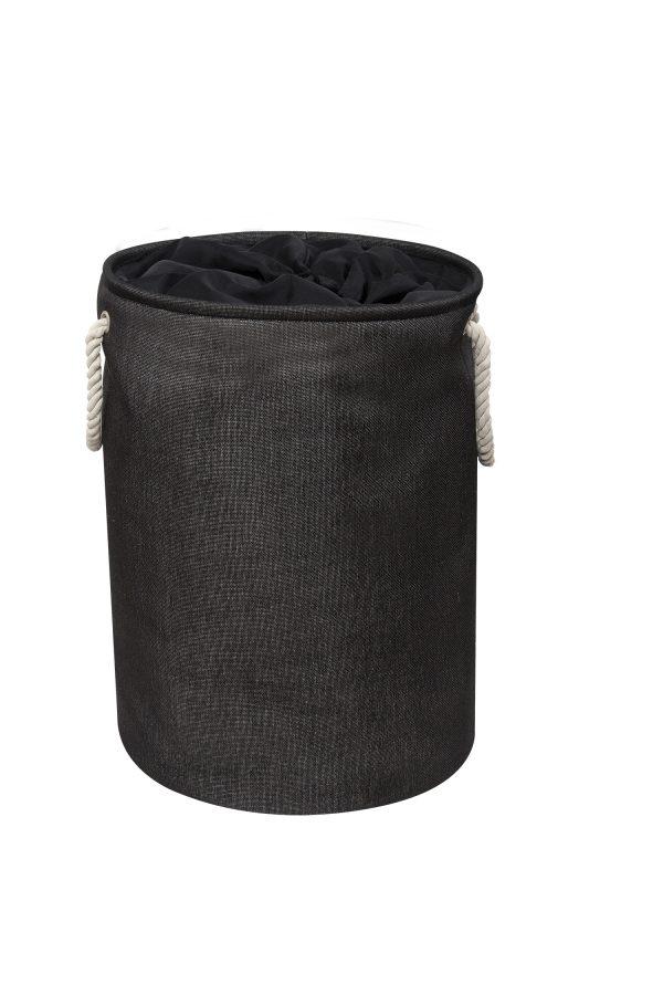 Presto Laundry Basket Black with Drawstring