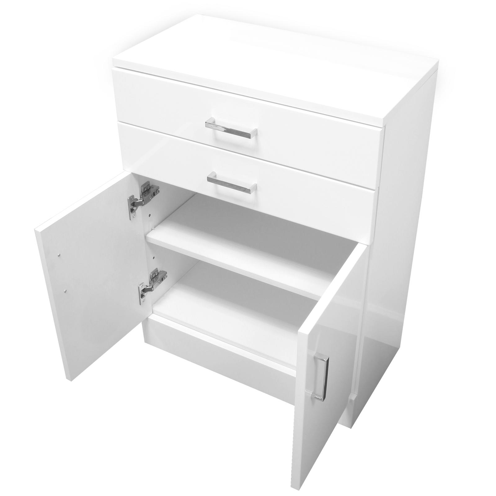High Gloss White To Floor, Argos Home Gloss Bathroom Floor Cabinet White