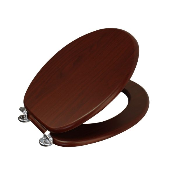 "Wood Effect ""Oxford"" Toilet Seats (4)"
