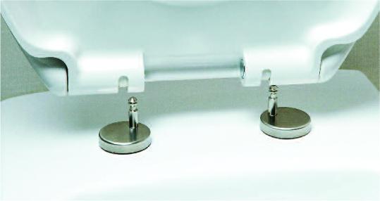 "Soft Close White Plastic ""Duo"" Toilet Seat, Two Button Quick Release Seat"