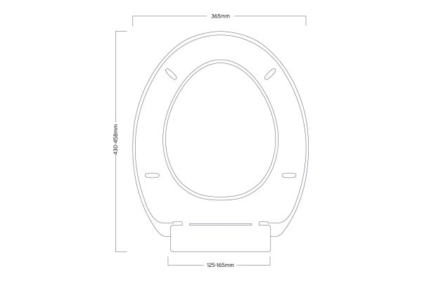 """Wrap Over Style """"Toledo"""" White Plastic Toilet Seat With Top Fixing and Adjustable Hinges"""