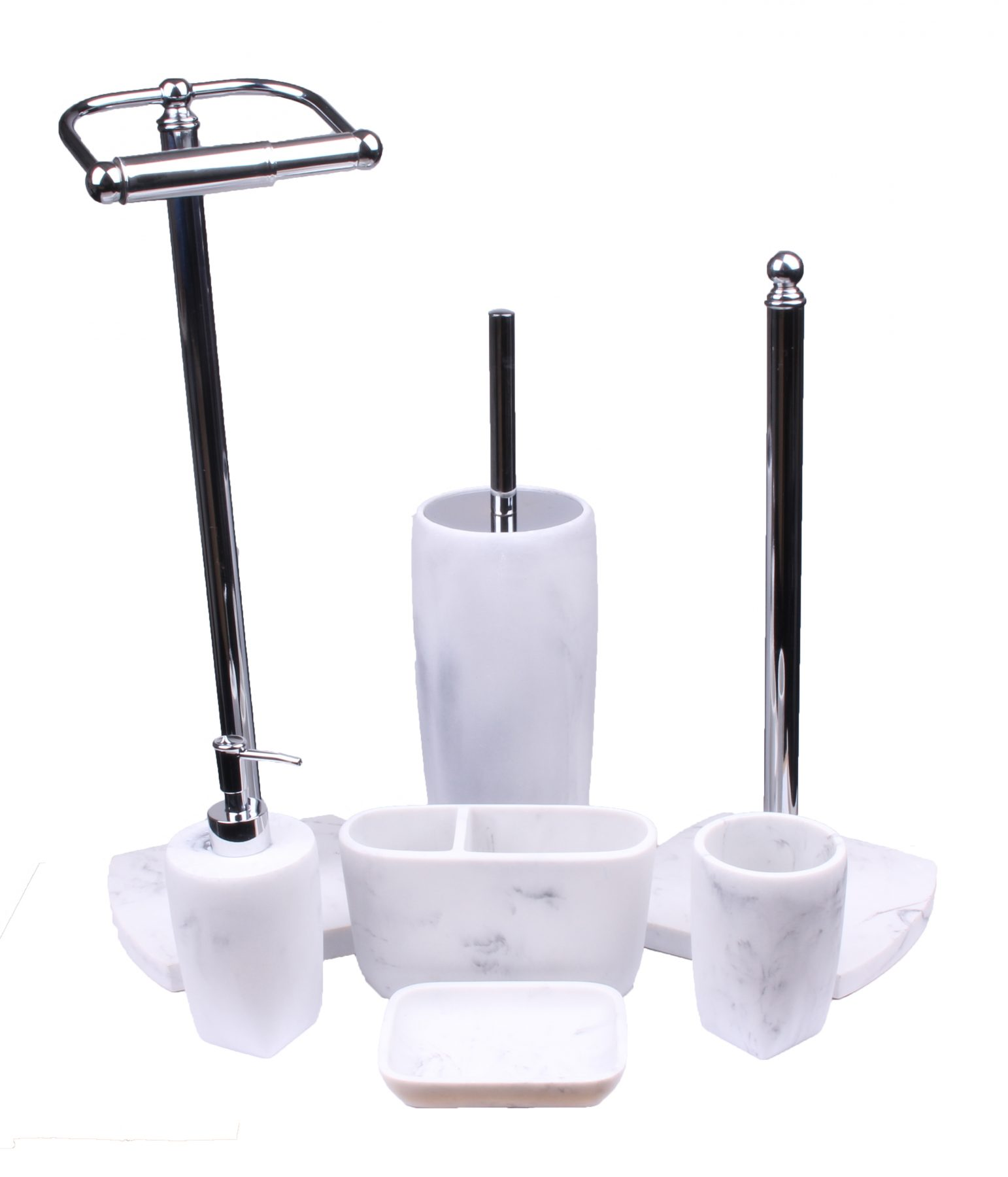 Buy Octavia White Marble Effect Resin Bathroom Accessory Set 1 Back2bath