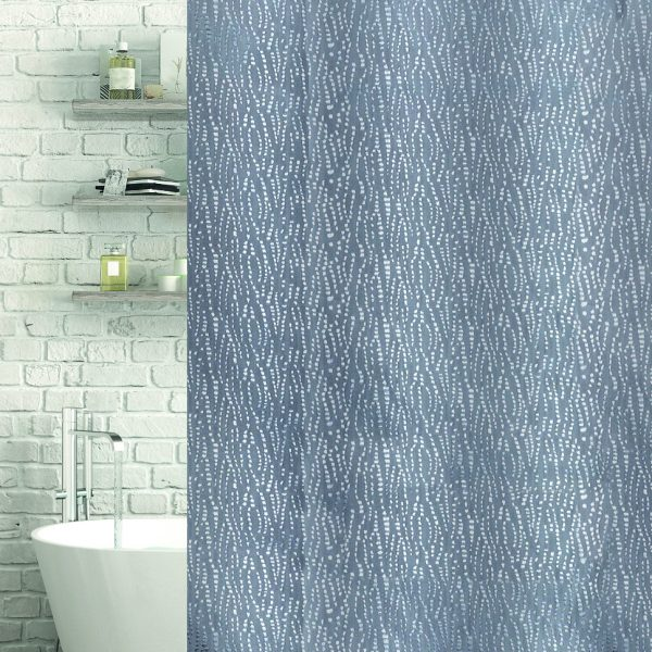 Waterfall Shower & Bath Curtain
