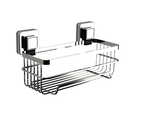Pushloc Wall Mounted Double Edge Suction Bottle Basket