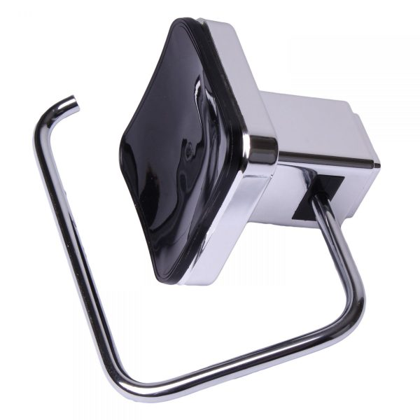 Pushloc Wall Mounted Double Edge Suction Toilet Roll Holder/Dispense