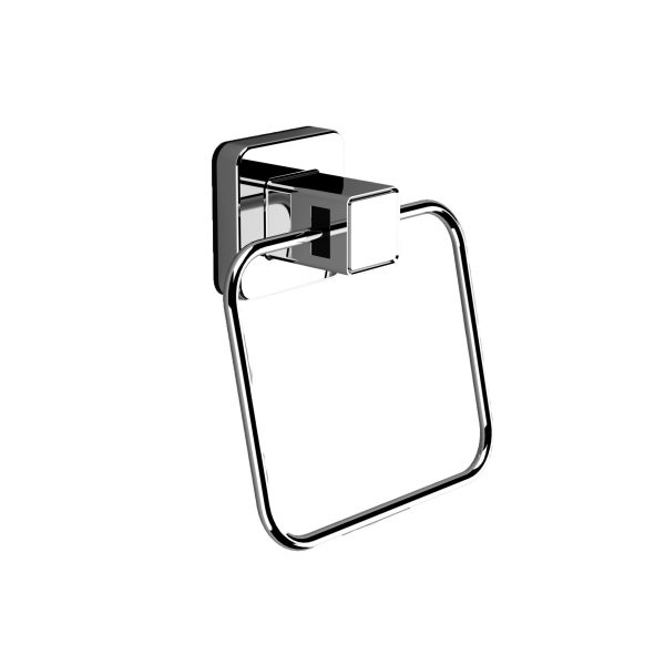 Pushloc Wall Mounted Double Edge Suction Towel Ring