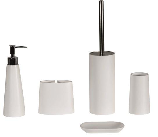 Alto White Bathroom Accessory Set