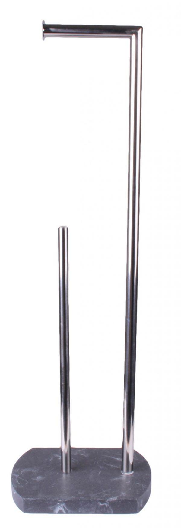 Octavia Freestanding Toilet Roll Holder & Spare – Grey