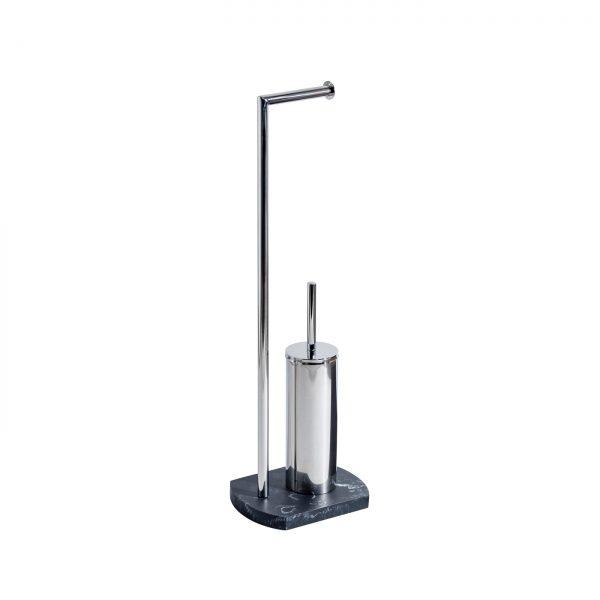 Octavia Freestanding Toilet Roll Holder & Brush – Grey