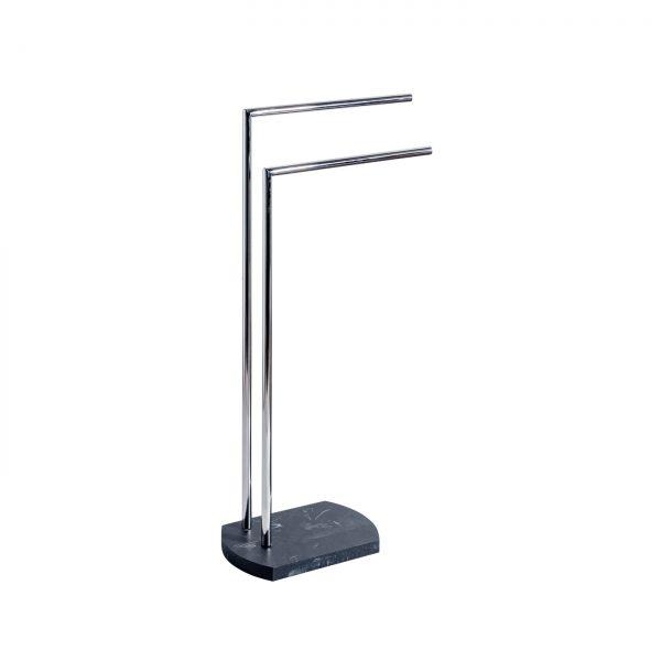 Octavia Freestanding Double Towel Rail – Grey