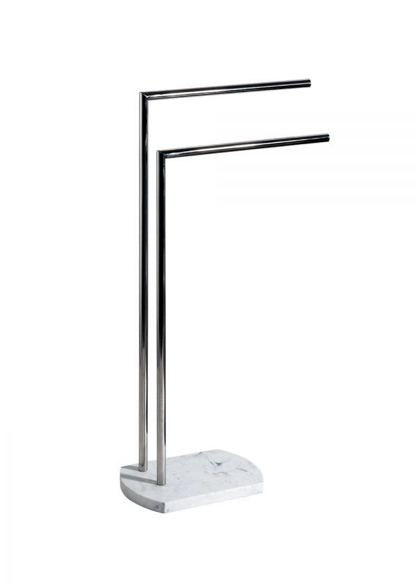 Octavia Freestanding Double Towel Rail – White