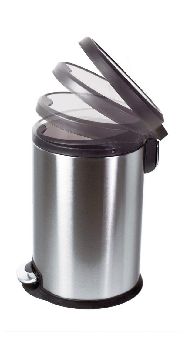 Aero Stainless Steel 3L Soft Close Peddle Bin, Satin Finsh