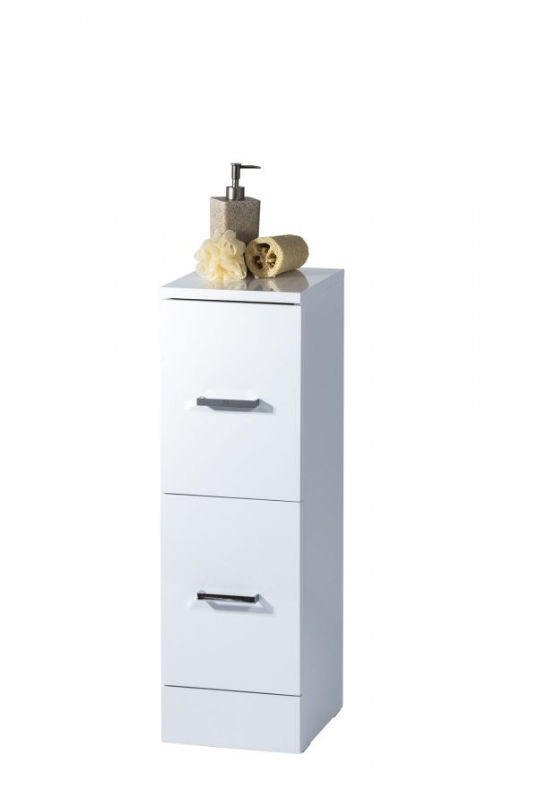Loreto Freestanding High Gloss Cabinet