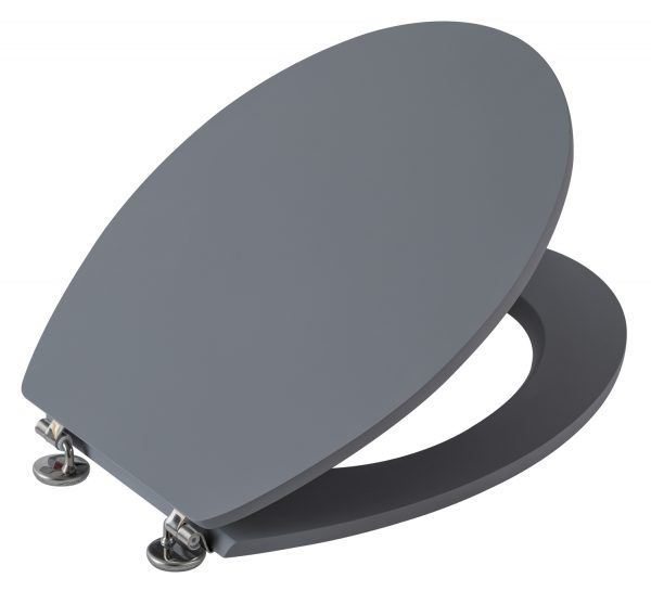 Cambridge Grey Toilet Seat With Rubberised Finish