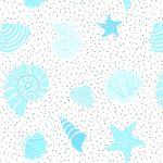 "100% Polyester ""Aruba"" Printed Beach Pattern Shower Curtain"