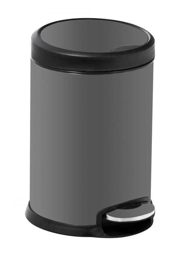 Aero Grey Stainless Steel 3 Litre Bathroom Bin