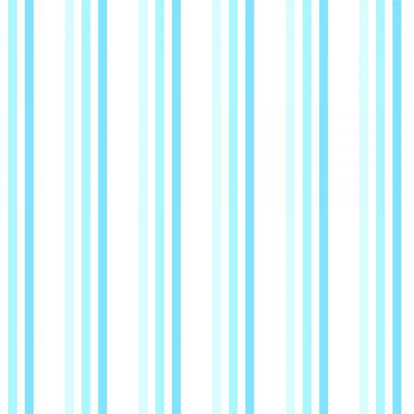 """Brighton Rock"" Blue Striped Shower Curtain"