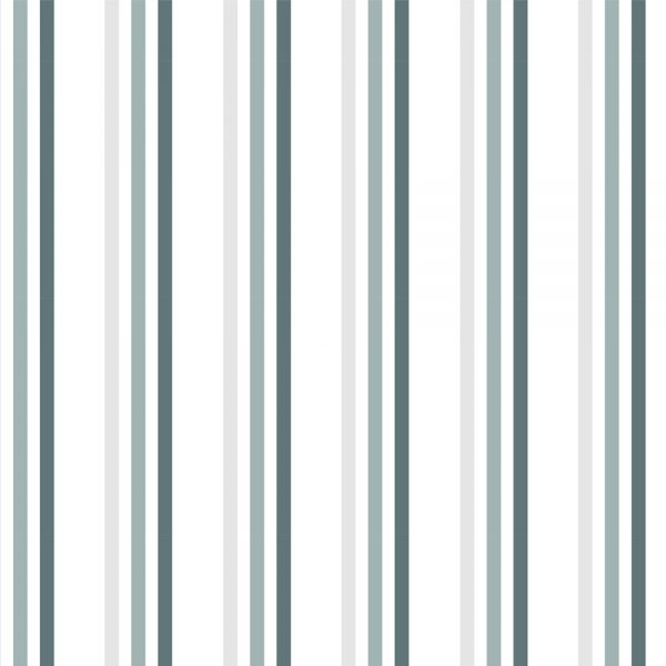 """Brighton Rock"" Grey Striped Shower Curtain"