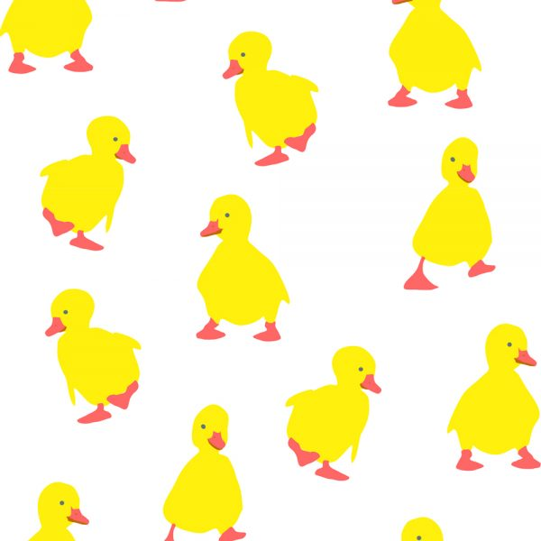 "100% Polyester ""Duckling"" Printed Duck Pattern Shower Curtain"