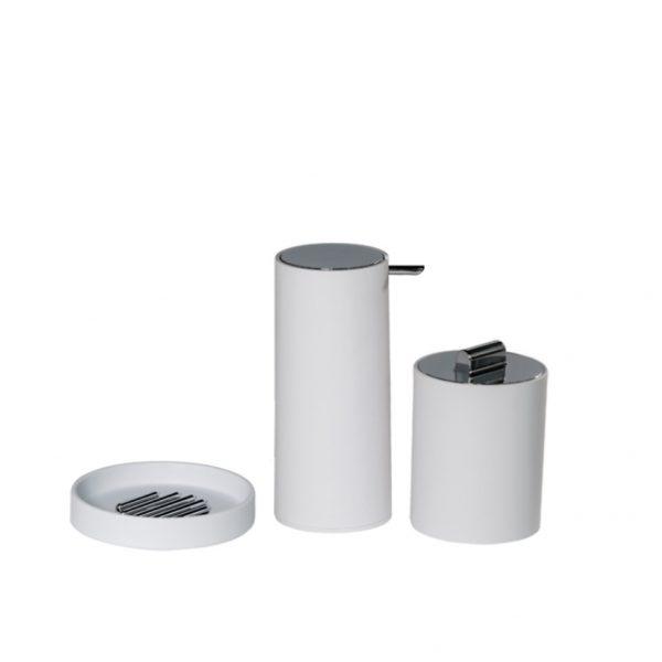 Nordic 3B Accessory Set (Soap dish, Liquid Soap Dispenser and Cotton Wool Jar)