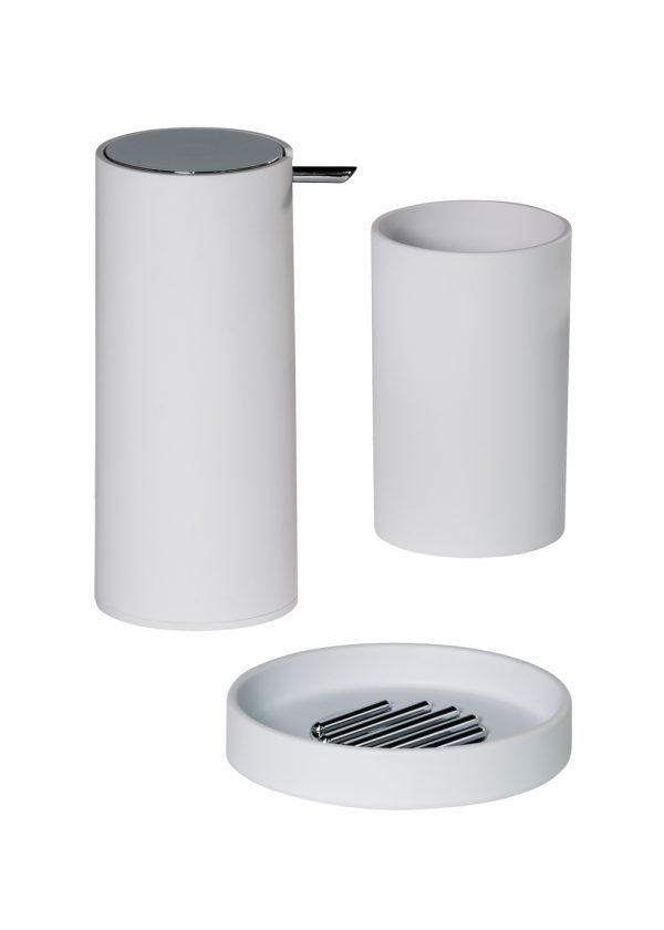 Nordic 3 Piece Accessory Set (Soap dish, Tumbler and Liquid Soap Dispenser)