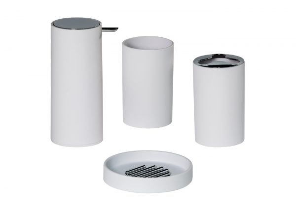 Nordic 4 Piece Set (Soap Dish, Tumbler, Toothbrush Holder and Dispenser)