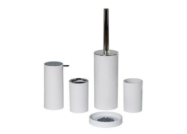 Nordic 5 Piece Accessory Set (Soap Dish, Tumbler, Toothbrush Holder, Liquid Dispenser and Toilet Brush)