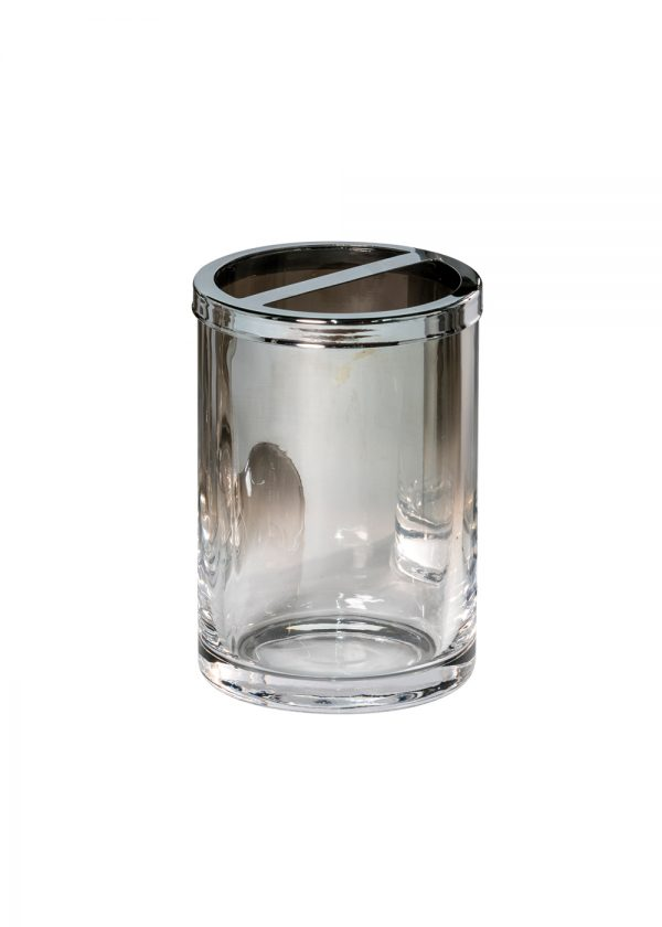 Ombre Glass Toothbrush Holder