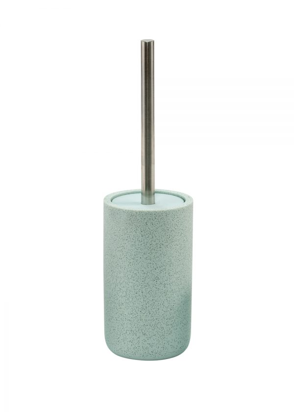 Terrazzo Toilet Brush & Holder Duck Egg