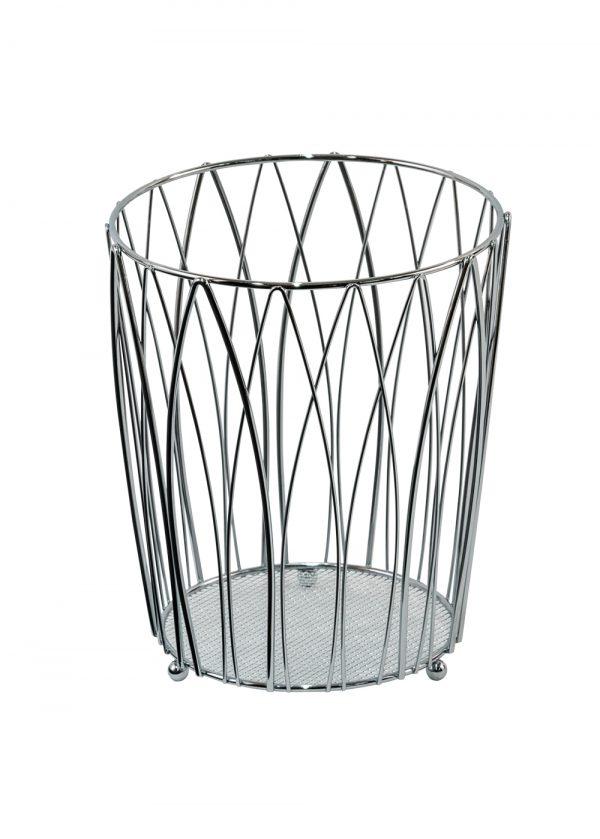 Vista Waste Paper Basket Chrome
