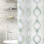 Fiesta Stripe Polyester Shower Curtain Green