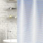 Horizon Polyester Shower Curtain Blue
