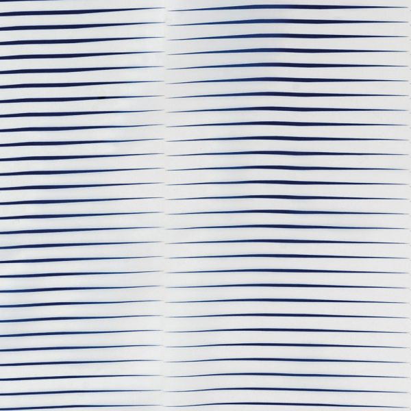 Horizon Polyester Shower Curtain Blue