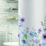 Jardenia Polyester Shower Curtain Blue/Purple