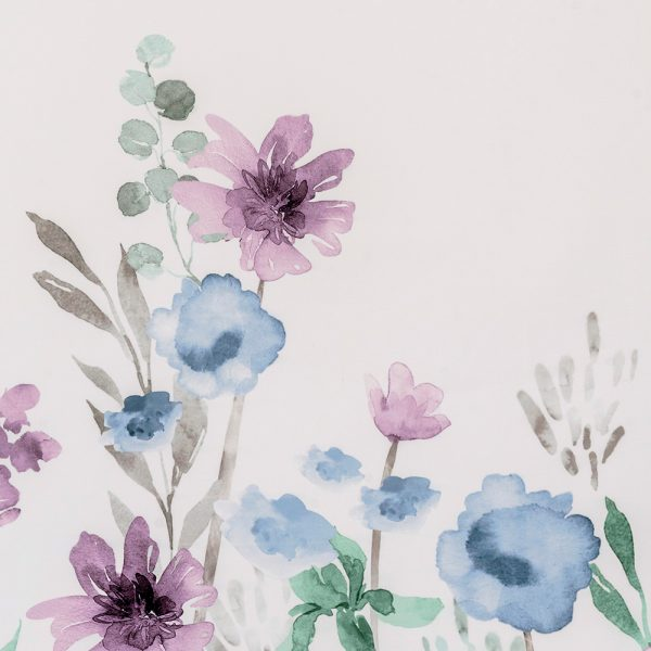 Jardenia Polyester Shower Curtain Blue/Purple