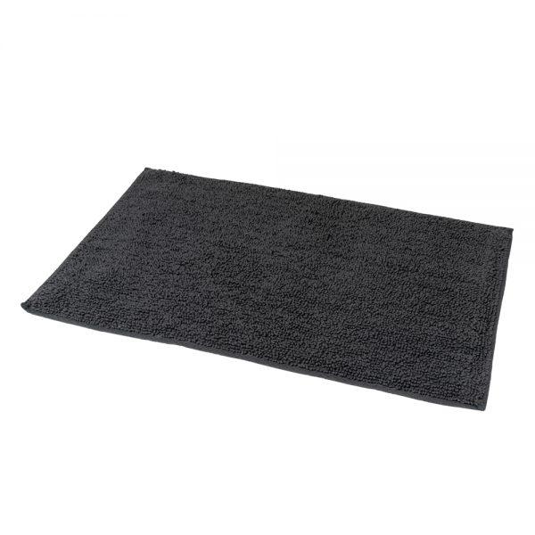 Andorra Loop Pile Cotton 80x50cm Bath Mat (Charcoal)
