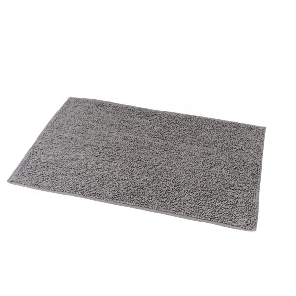 Andora Loop Pile Cotton 80x50cm Bath Mat (Grey)