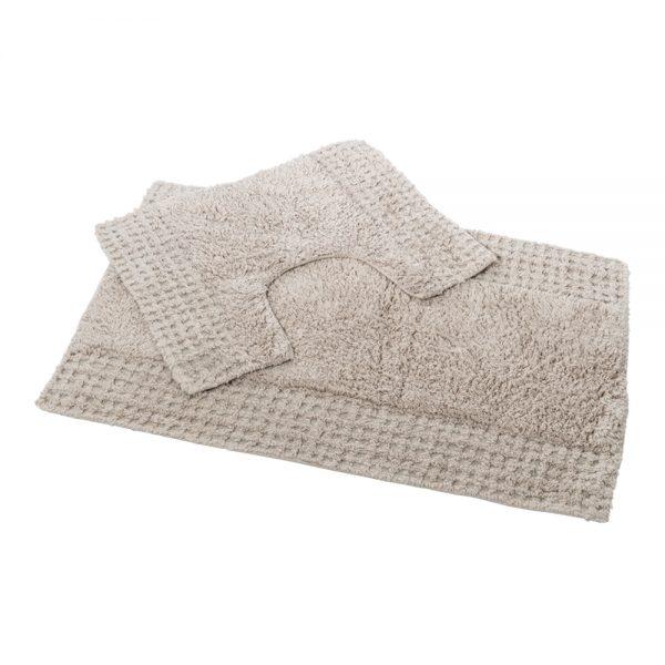 San Marino 2 Piece Cotton 80x50cm Bath Pedestal Mat Set (Mocha)