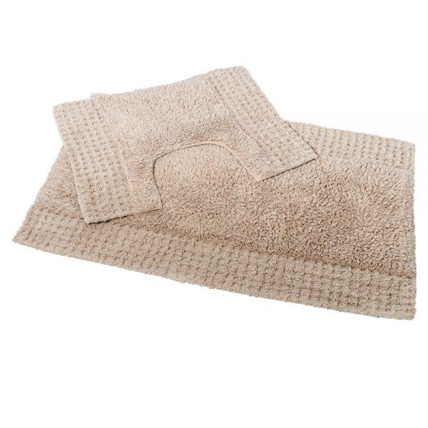 San Marino 2 Piece Cotton 80x50cm Bath Pedestal Mat Set (Sand)
