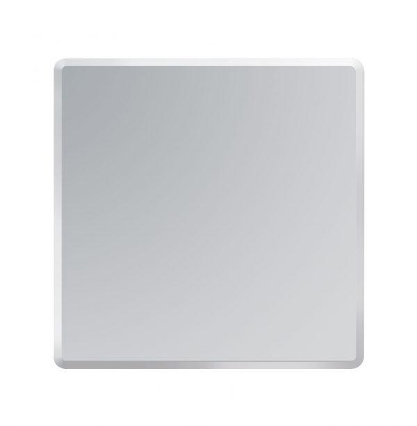 Square Bathroom Mirror Wall Mounted Bevelled Edge Frameless Modern 60cmx60cmTrafalgar
