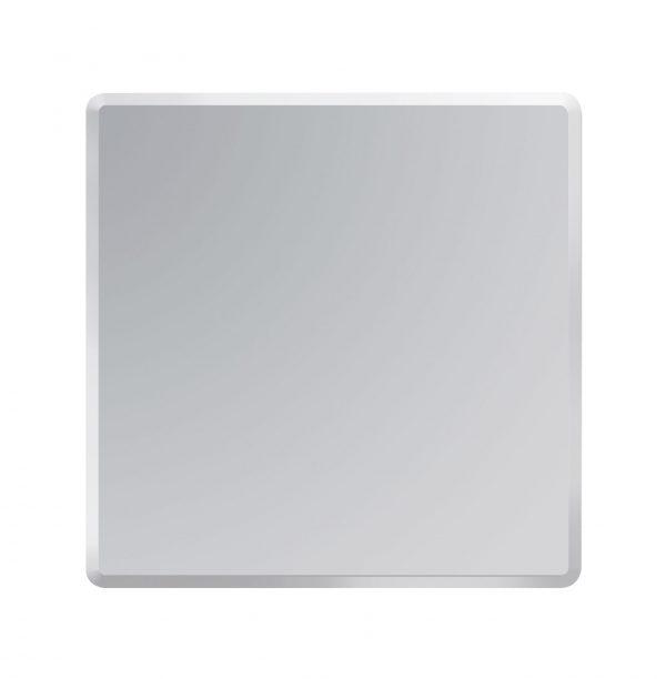 Square Bathroom Mirror Wall Mounted Bevelled Edge Frameless 45cmx45cm Trafalgar