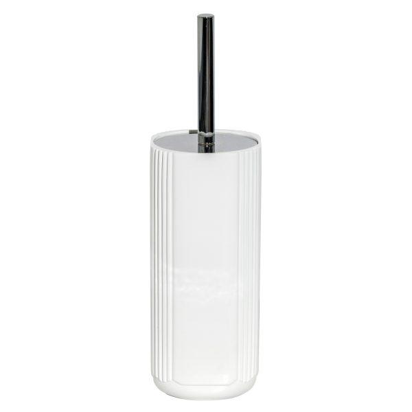 Imperial White Toilet Brush and Holder
