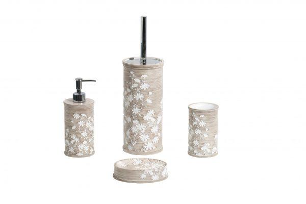 Linen Bathroom Accessory Set 4 Pcs