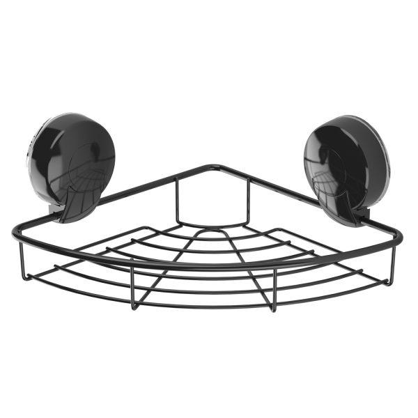 Suctionloc Corner Basket Black