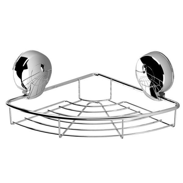 Suction Corner Basket Chrome