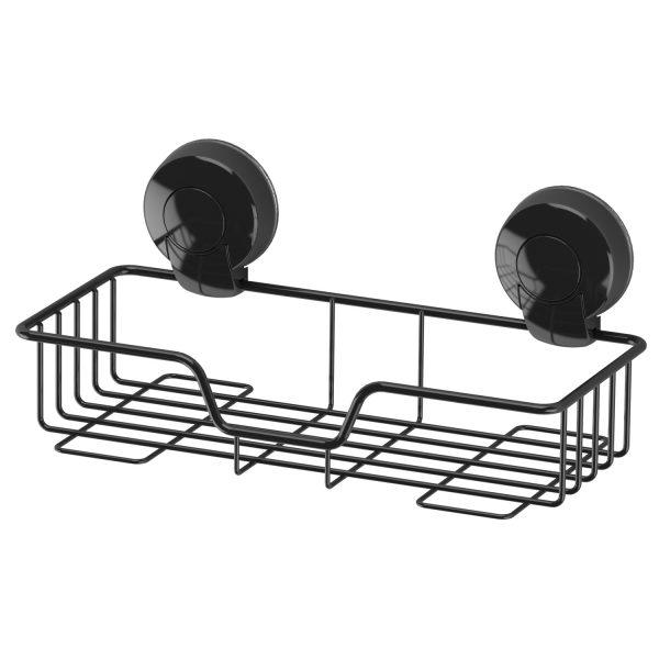 Suctionloc Rectangular Basket Black
