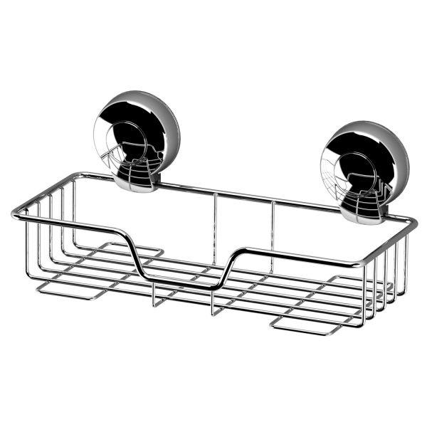 Suctionloc Rectangular Basket Chrome